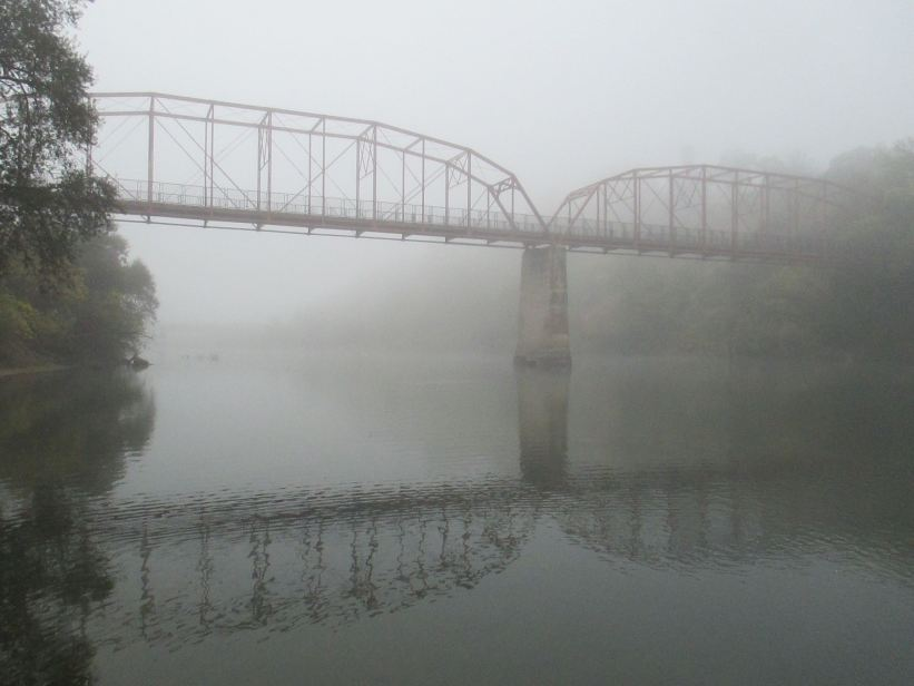 morning fog, fair oaks bridge, fog