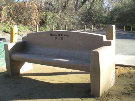 memorial bench, memorial, salmon, American River, salmon, boat launch ramp, Fair Oaks Bridge, mornings, outdoor, nature