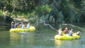 rafts, American River, water, fun, play, summer, Fair Oaks, Jim's Bridge
