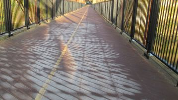 mornings, frost, ice, Fair Oaks Bridge, American River, water, nature, outdoors, writing, smoke, haze