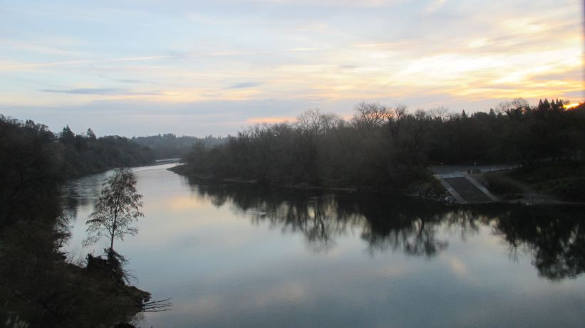 morning, sunrise, Fair Oaks Bridge, American River, water, nature, outdoors, observation, writing, nature journal, beauty, peace