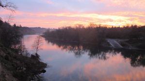 Fair Oaks Bridge, mornings, sunrise, American River, nature, observation, wrting, beauty,