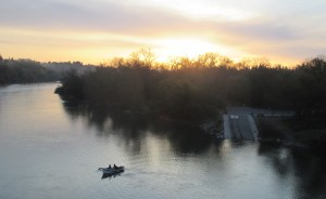 American River, boats, fishermen, sunrise, outdoors, natura, water, launch, mornings