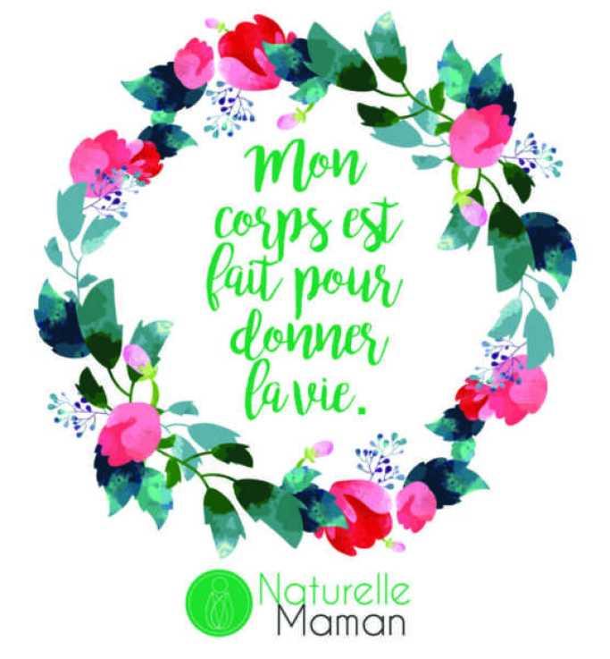 affirmation positive pour votre accouchement par Naturelle maman