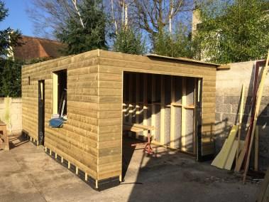 bardage bois autoclave, sur construction en ossature bois