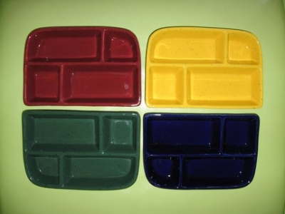 Ceramic Glass Steel Tv Dinner Trays And Divided Plates