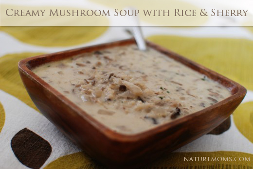 mushroom soup rice and sherry
