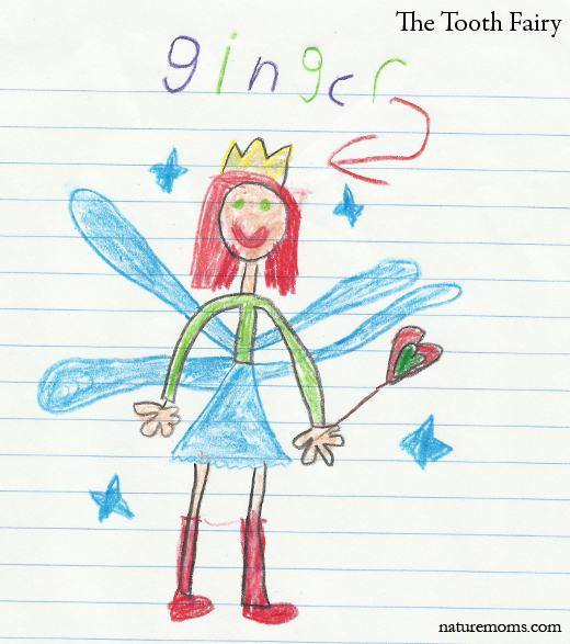 tooth fairy crayon drawing