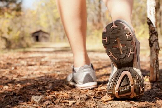 Woman Hiking in the Fall