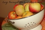 Easy Overnight Crockpot Applesauce