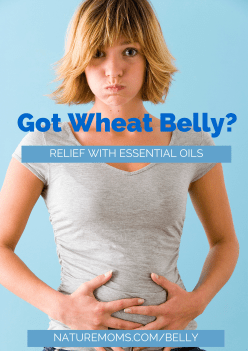 relief for wheat belly and bloating with essential oils