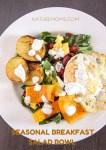 Breakfast Salad Bowl with Fennel Sour Cream Dressing