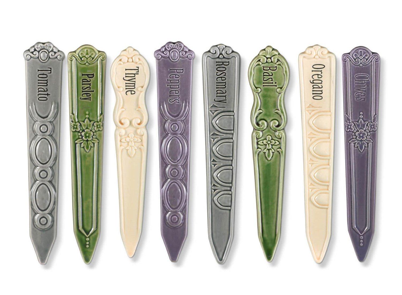 Beautiful Ceramic Garden Markers