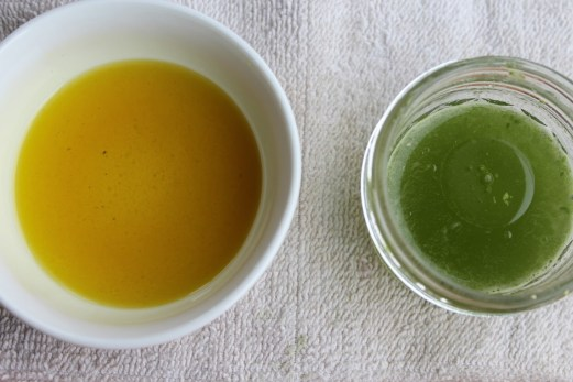 Almond oil and emulsifying wax and basil