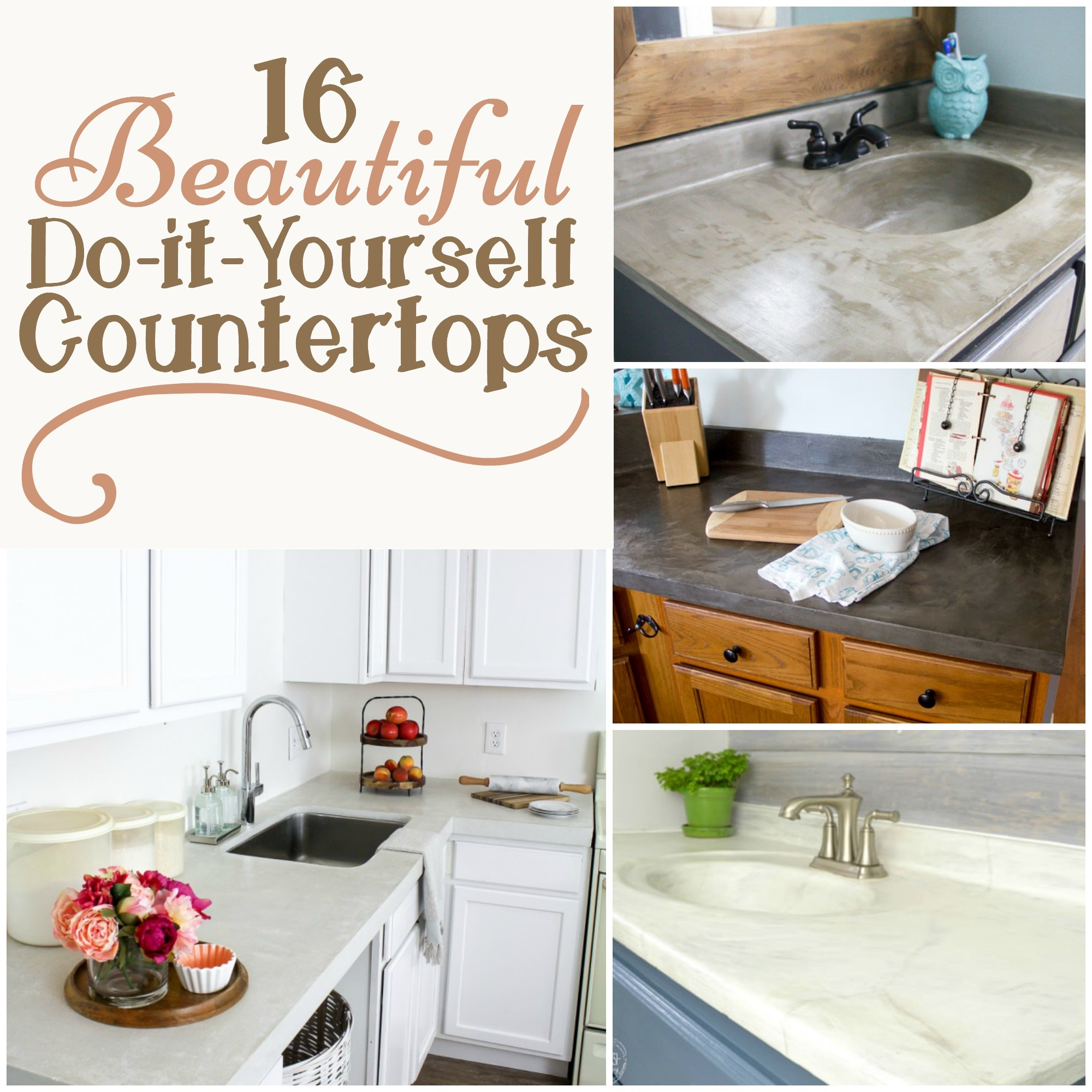 16 beautiful and affordable do it yourself countertops solutioingenieria Images