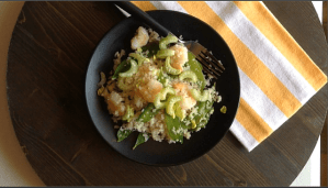 Keto Friendly Cauliflower Rice With Shrimp