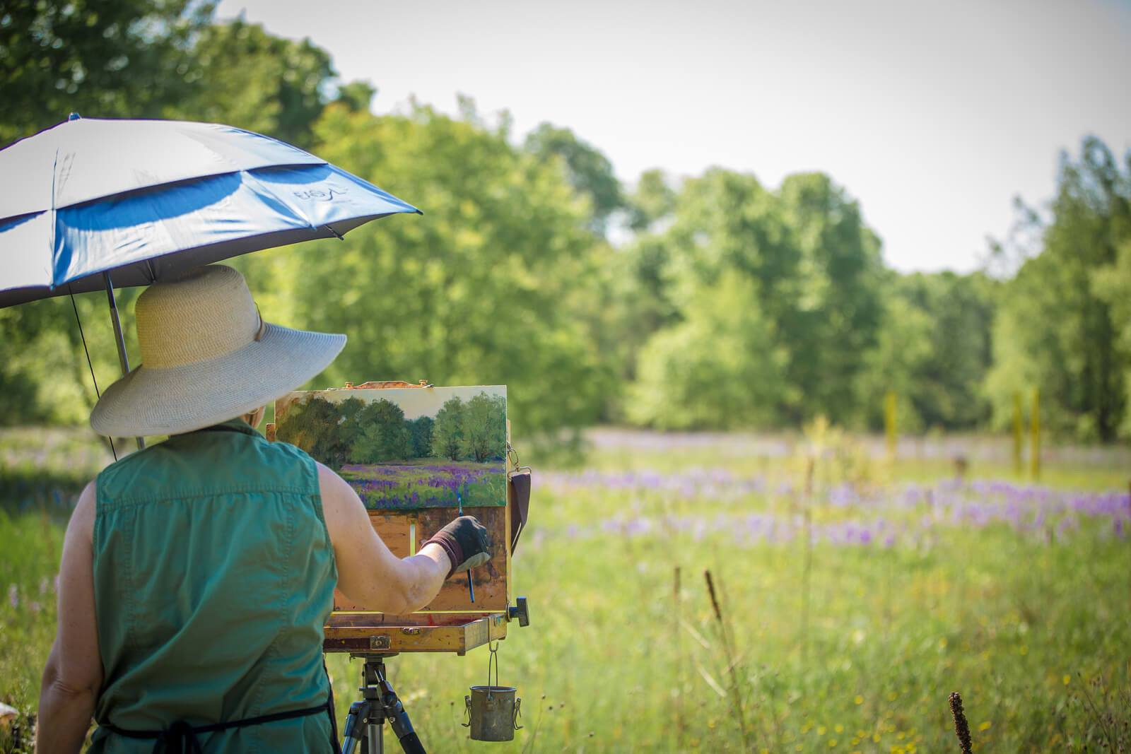 Painting at Maas Preserve