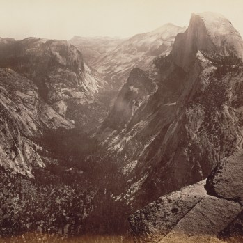 Carleton Watkins (American, 1829 - 1916) [Half Dome from Glacier Point], 1865 - 1866, Albumen silver print 39.4 × 52.1 cm (15 1/2 × 20 1/2 in.), 84.XP.220.32 The J. Paul Getty Museum, Los Angeles