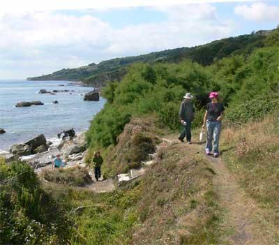 Coastal access at Binnell bay, Isle of Wight