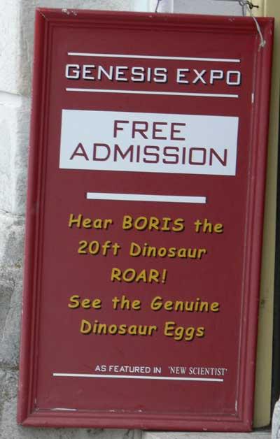 Sign at Genesis Expo