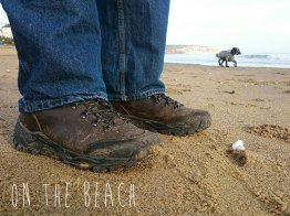 Hi-Tec Altitude Pro walking boots, Sandown beach