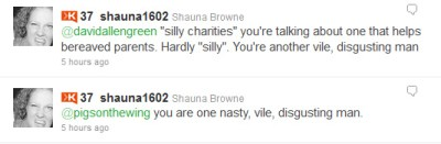 Twitter screencap - Shauna Browne