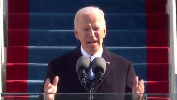 """""""Don't tell me things can't change,"""" Biden says"""