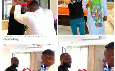 Fans reacts over Zubby and Davido's pleasantry exchange