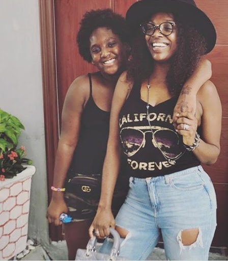 Annie Idibia slays in her 12-year-old daughter's clothes