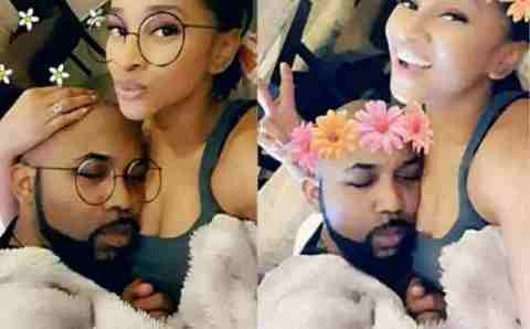 Banky W Reacts After Adesua Releases Photos Of Him Sleeping On Her Chest