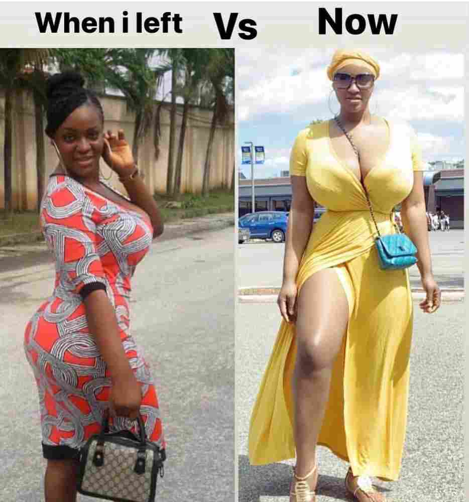 Photos Of How Some Nigerians Looks Before And After They Left The Country