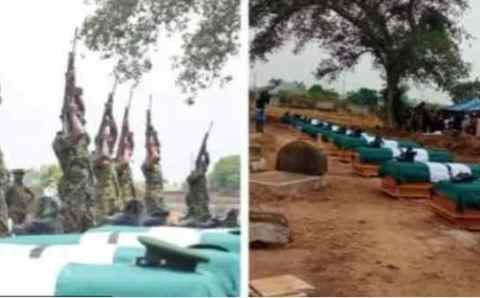 Finally, the unknown gun men that killed 12 soldiers in Benue state discovered