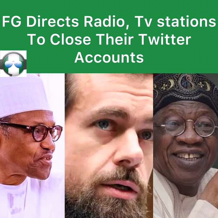 FG Mandates Radio and TV stations to close down their twitter account.