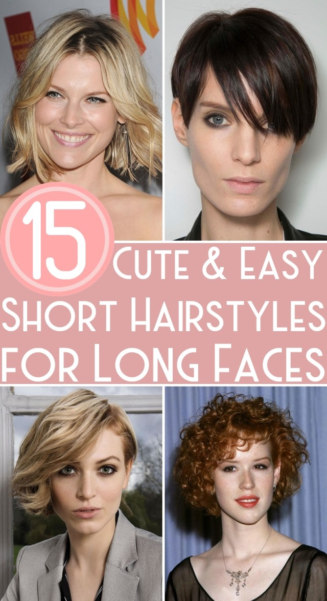 15 cute & easy short hairstyles for long faces