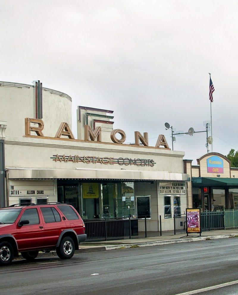 old movie theatre on main street ramona, ca