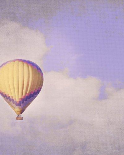 nursery decor yellow balloon print