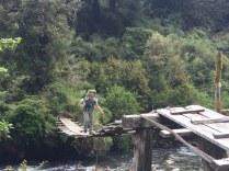 Pretty dodgy bridge crossing