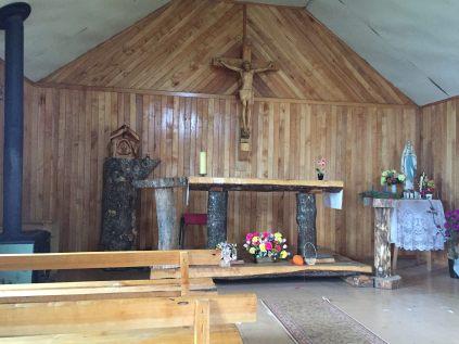 The Catholic church at Villa O'Higgins