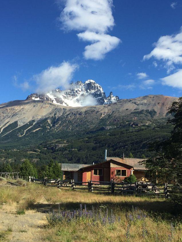 Last view of Cerro Castillo and Puesto Huemul