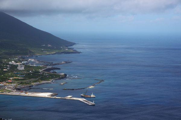 登龍峠展望台からの海の眺め