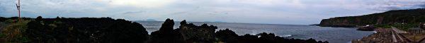 伊豆大島、利島、新島、式根島、神津島が見える