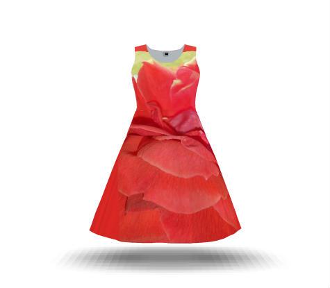 MY WEAR (RED ROSE DRESS)