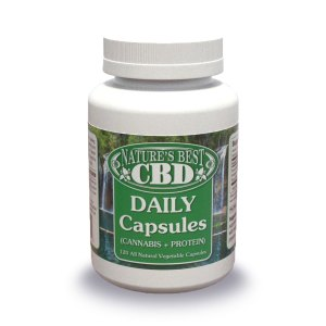 Picture of Nature's Best CBD Daily Capsules (Cannabis + Protein) 120 count.
