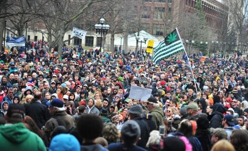 Michigan marijuana protest