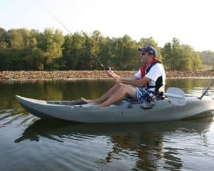 Lifetime Sport Fisher Kayak with Paddles and Backrests - Olive Green, 10 feet