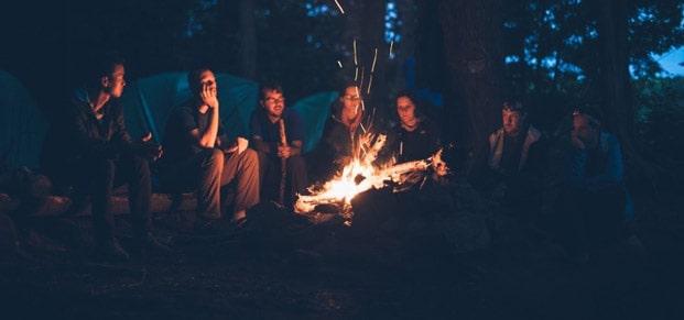camping trip bonding