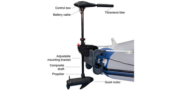 Intex Trolling Motor for Intex Inflatable Boats, 36 Shaft (features)