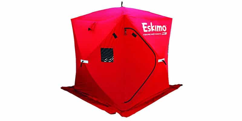 Eskimo QuickFish 3 Pop-up Portable Ice Shelter, 3 person (Insulated or Non-Insulated)