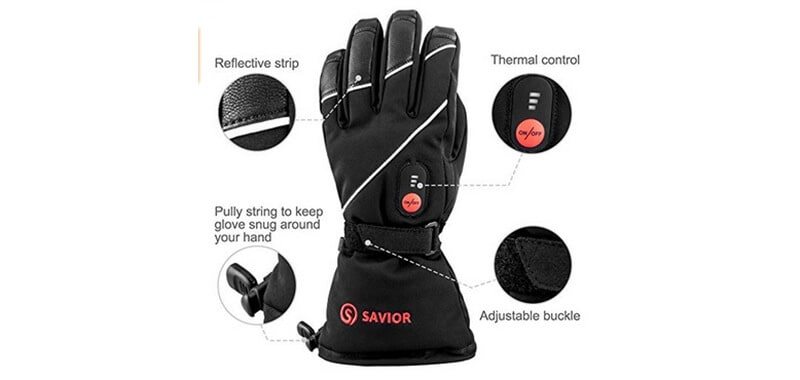 Savior Heated Gloves with Rechargeable Li-ion Battery Heated for Men and Women, Warm Gloves for Cycling Motorcycle Hiking Skiing Mountaineering, Works up to 2.5-6 Hours Specifications