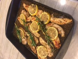 Lemon Chicken Baking Dish